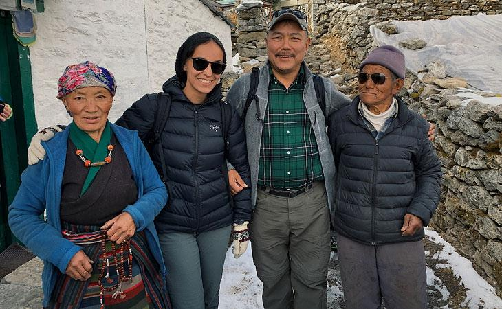 Zeinab Bakillah, Ang Temba Sherpa and parents