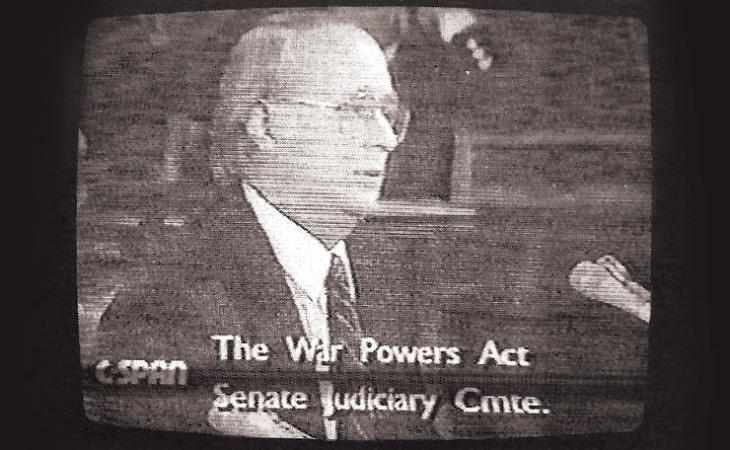 Moore gives testimony about the War Powers Act