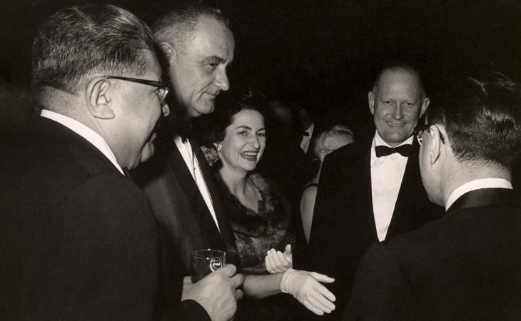 Caplin with Lyndon and Lady Bird Johnson, and Douglas Dillon