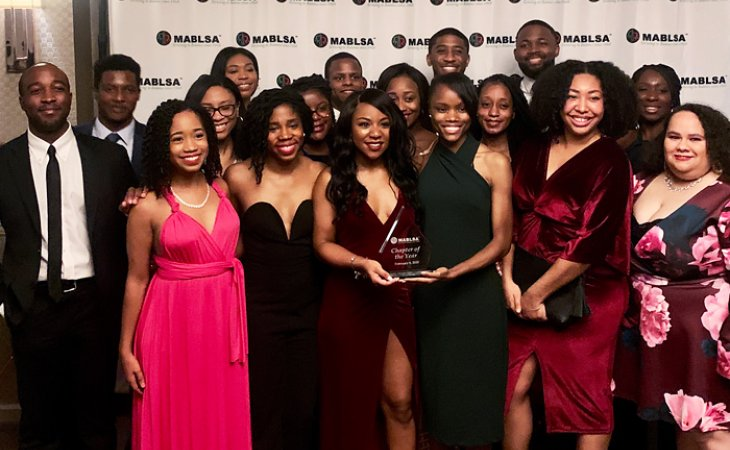 BLSA members at mid-Atlantic chapter of the year ceremony