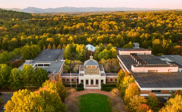 An aerial view of the Law School