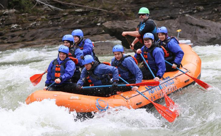 Rafting on the gorge