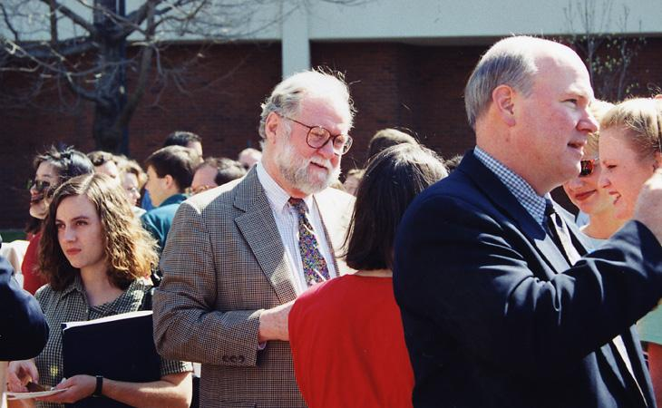 Wadlington mingles during Admitted Students Weekend