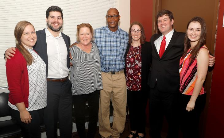 Phillips with members of the Innocence Project Clinic