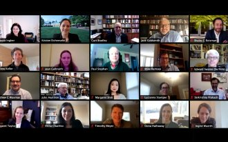 Professors speaking in Zoom roundtable