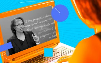Illustration of Kimberly Robinson teaching webinar