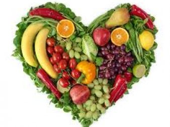 Heart made out of food.