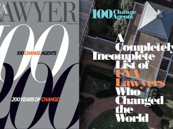 The cover of UVA Lawyer Spring 2019 edition