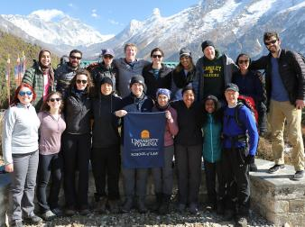 UVA Law students pose during their trek to Nepal