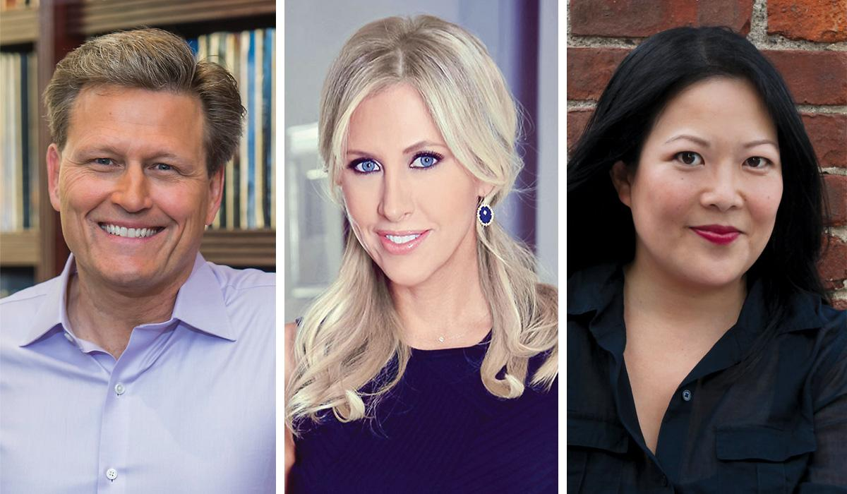 David Baldacci '86, Emily Giffin '97 and Helen Wan '98