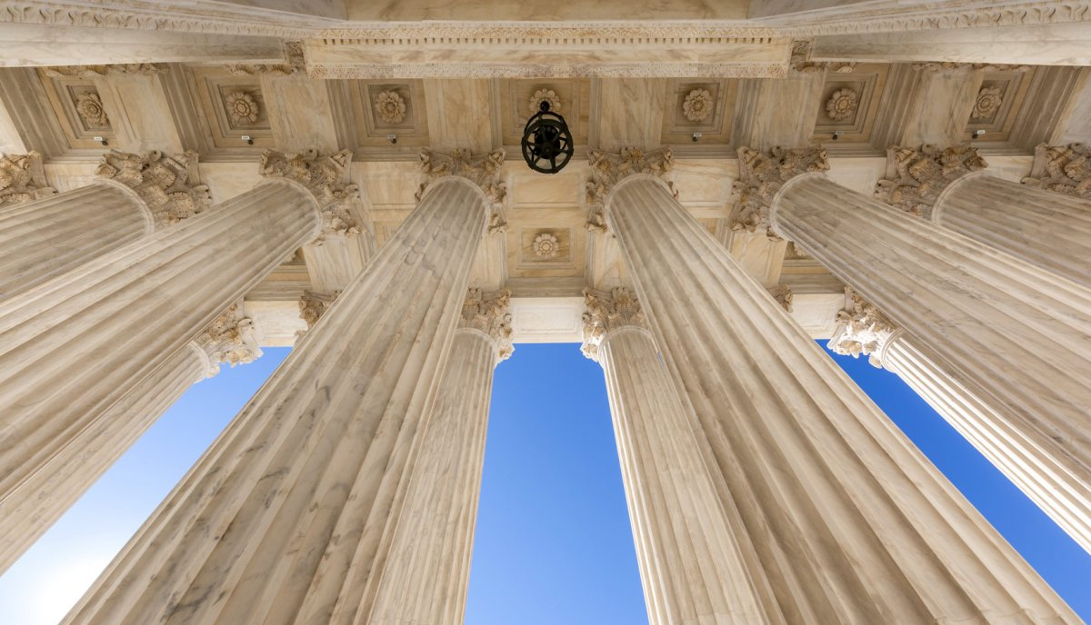 View of pillars at the U.S. Supreme Court