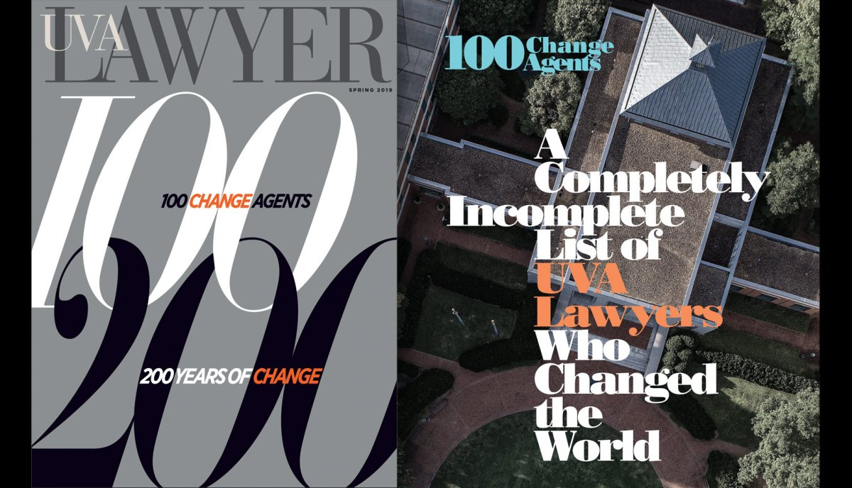 UVA Lawyer Spring 2019 issue cover