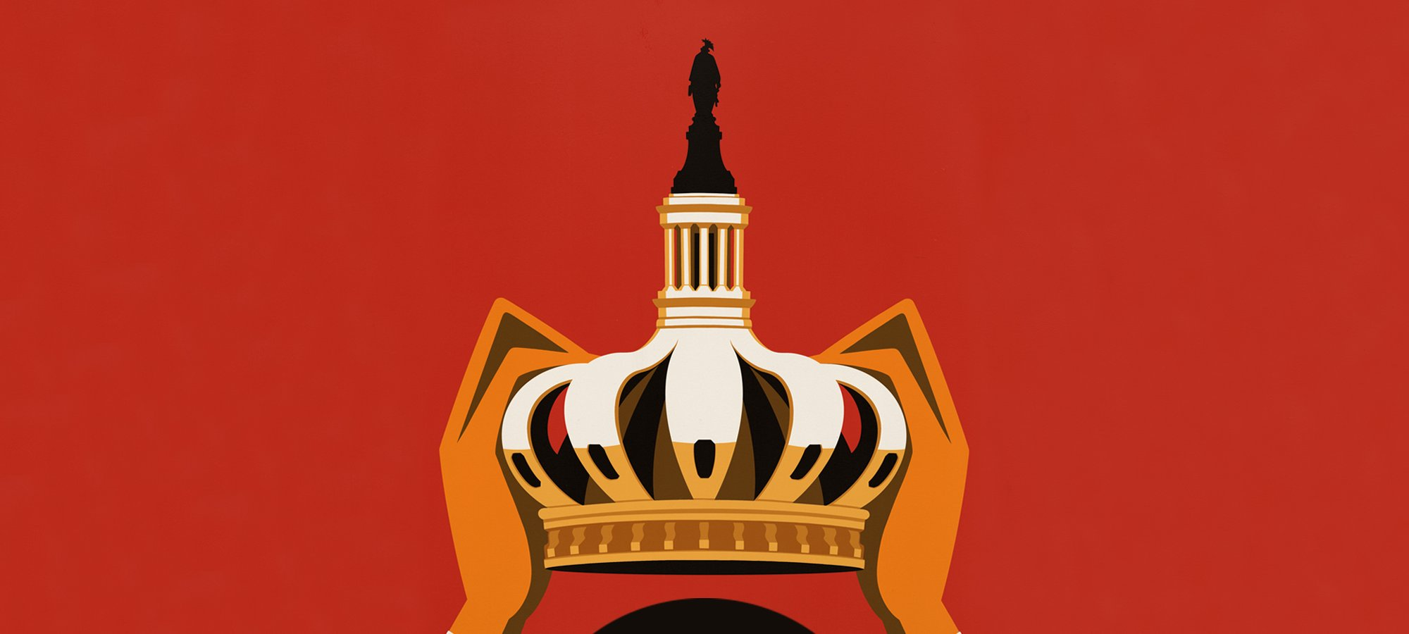 Illustration of a crown shaped like Capitol architecture