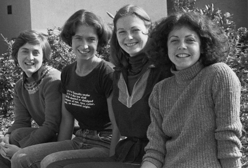 Diane Pitts '78, Tracy Thompson '79, Diane Smock '79 and Jackie Blyn '79