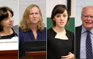 Elisa Massimino, Laura Donohue, Jennifer Cafarella and James F. Jeffrey