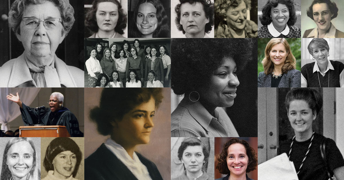 The 2019-20 school year marked the Law School's bicentennial as well as its centennial of coeducation. The fall 2019 issue of UVA Lawyer showcased women who led the way and who went from lawyers to leaders.
