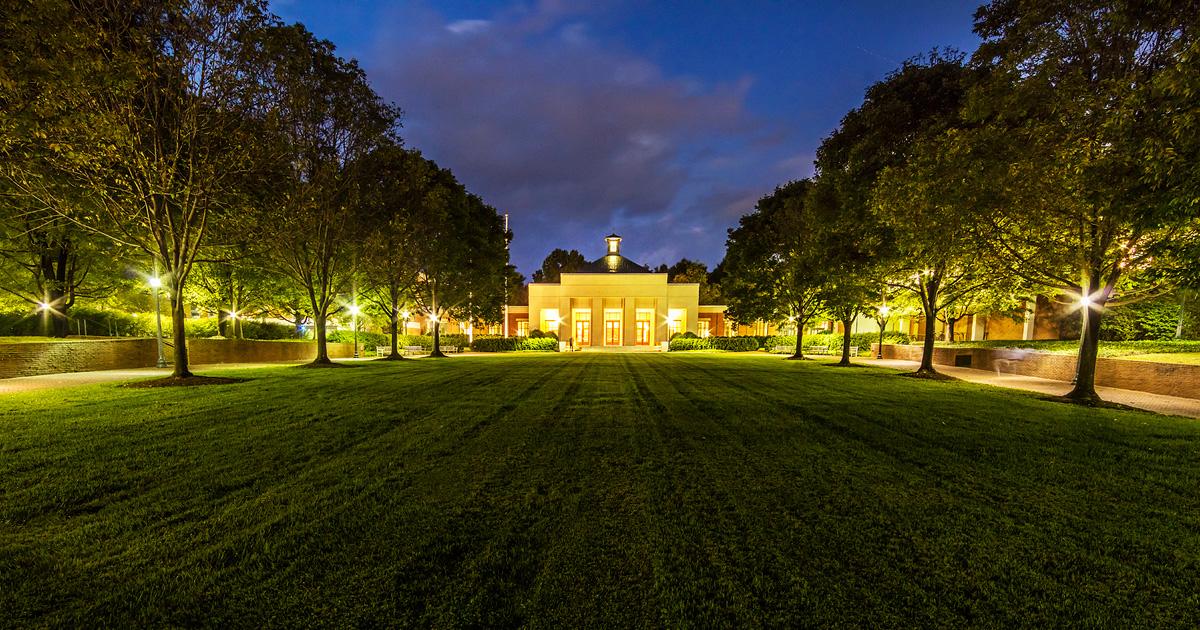 Law School at night