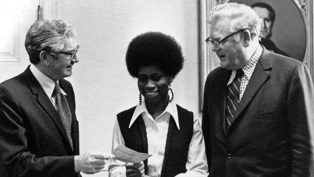 Jones received the Constance Baker Motley Scholarship Award of the NAACP Legal Defense and Education Fund in 1972