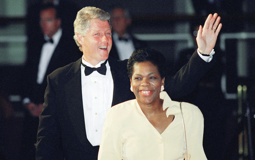 Elaine Jones and Bill Clinton