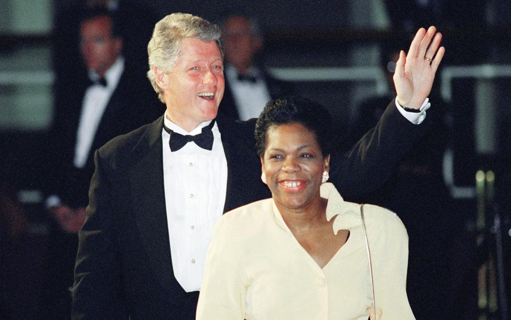 Elaine Jones and Bill Clinton