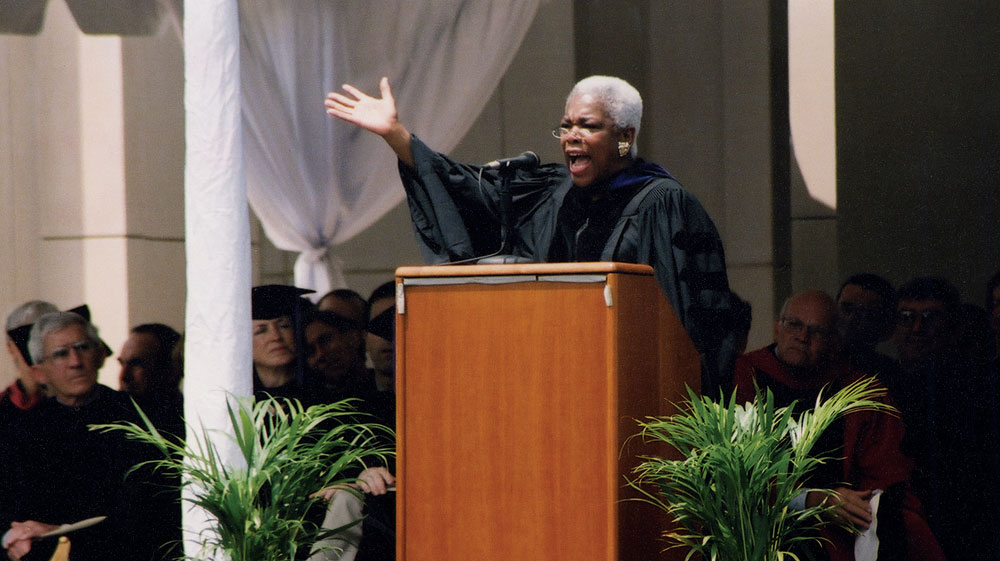 Jones gave the commencement address at the Law School in 2004