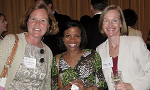 From Left: Janet Schwitzer Nolan '89, Christine Hines '98, and Elizabeth Leverage '92