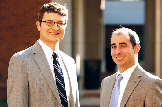Professor Michael Gilbert and co-author and third-year student Benjamin Aiken