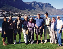 Project volunteers in Cape Town, South Africa.