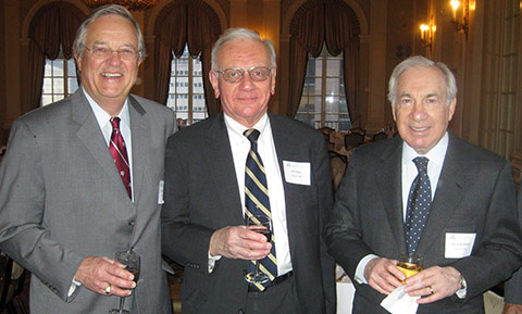 Jack Bissell '65, William Halter '64, and Dan Rosenbloom '54.