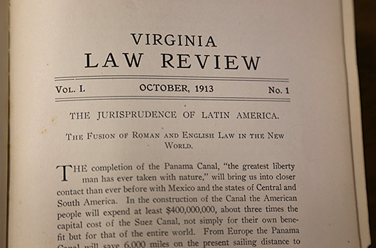The first article published by the Virginia Law