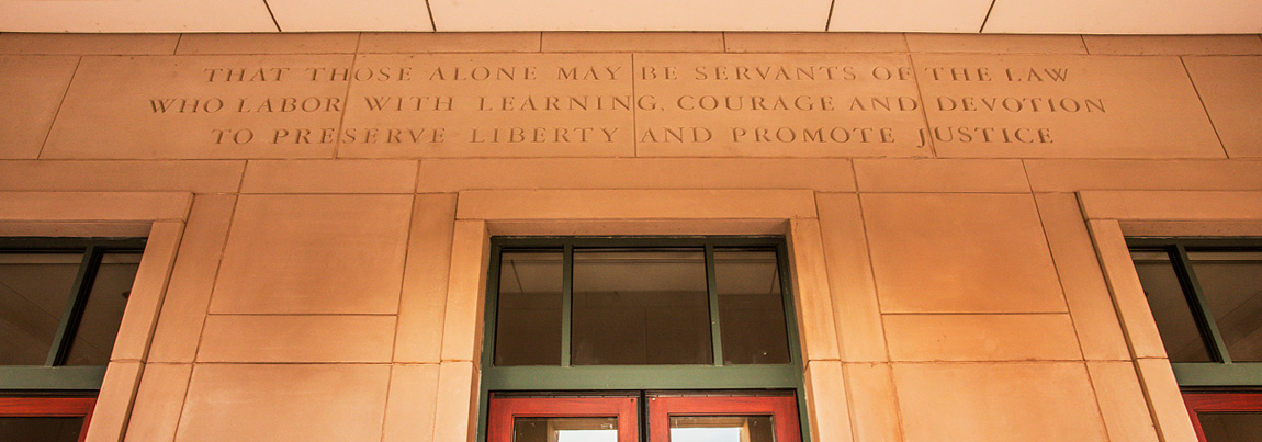 Quote above Clay Hall entrance