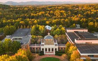 Aerial of UVA Law