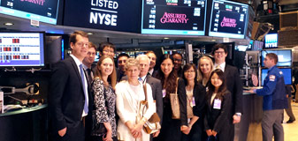 Law & Business program stock exchange trip