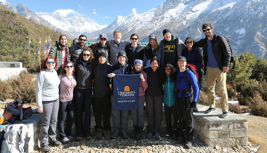 Students and alumni in Nepal