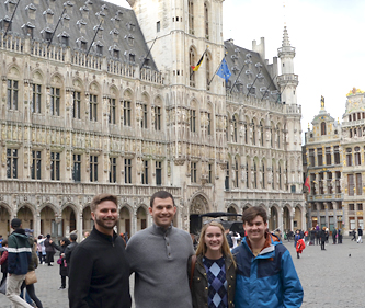 Tax Moot Court competition team in Brussels