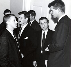 Ted and Bobby Kennedy