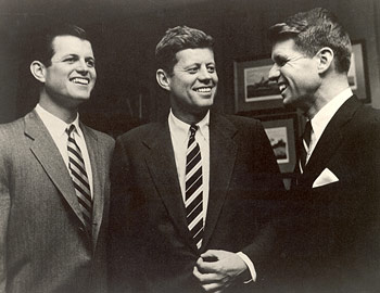Ted, John and Bobby Kennedy