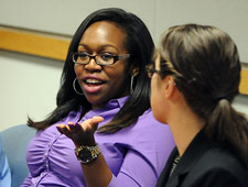 Students discuss externships