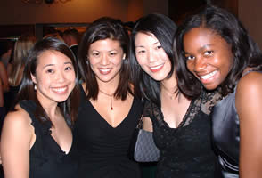 (L-R) Laura Soong, Emily Fan, Sharon Yuan, and Alison Perine.