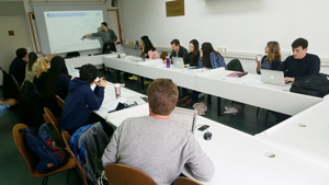 Uri Gabai teaches UVA Law students at Tel Aviv University