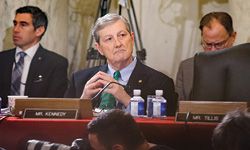 Kennedy at a hearing