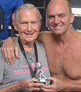 John Corse '57 and Rowdy Gaines