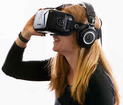 Woman with VR set